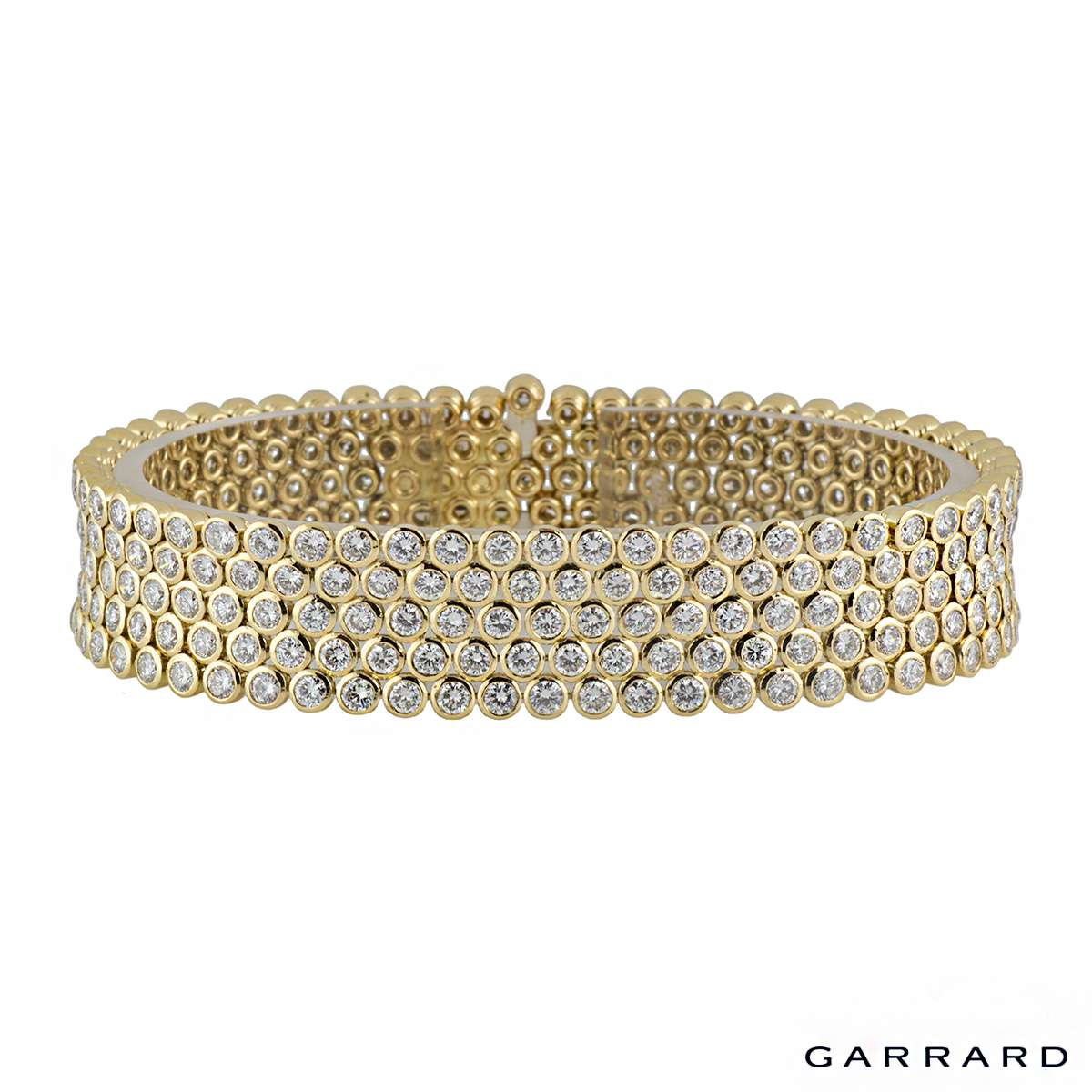 Garrard Diamond Yellow Gold Bracelet 14.25ct